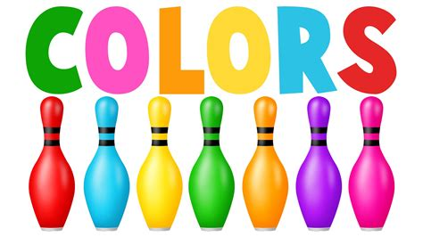 color pin learn colors with colors bowling learning colors