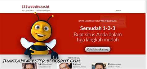cara membuat website co id gratis cara membuat website gratis menggunakan 123website co id