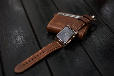 apple watch strap horween leather apple watch strap by nomad hiconsumption