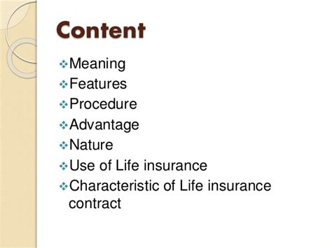 define biography characteristics life insurance concept nature use of life insurance