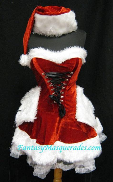 11415 Fur Combined Dress White size o s 3 pc faux fur trim ms santa corset dress