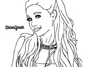 grande coloring pages grande with necklace coloring page coloringcrew