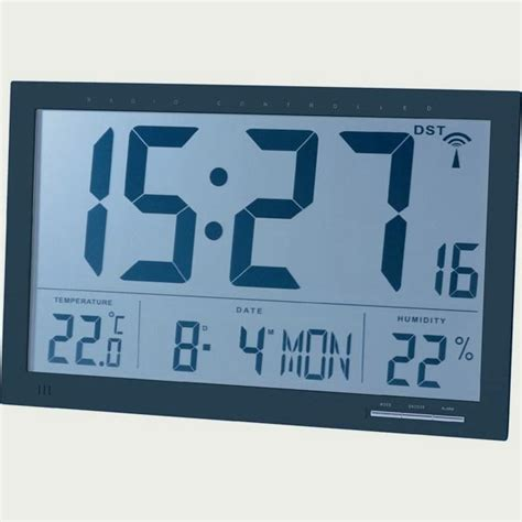 horloge digitale murale a pile horloge calendrier murale radio pilot 233 e cflou