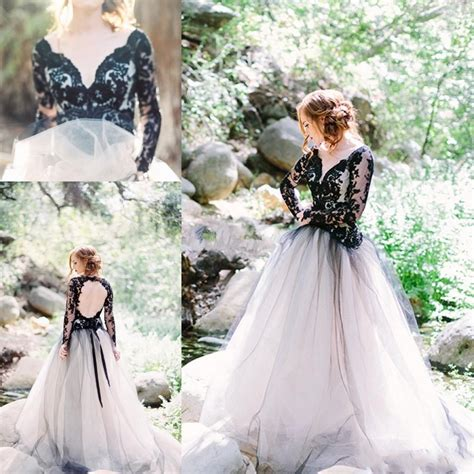 2nd wedding dresses near me discount moody black lace wedding dresses