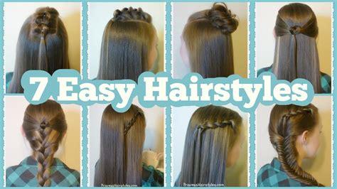 quick  easy hairstyles  school youtube