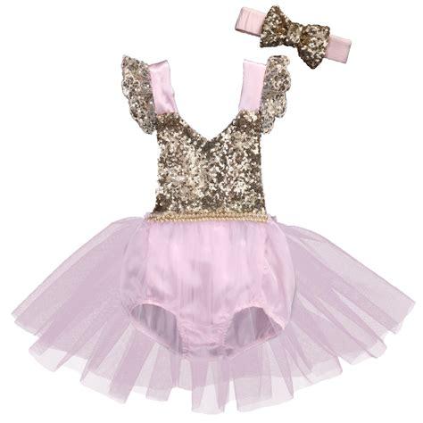 Set Tutu Baby 0 12 Bln 0 3y sequins newborn baby clothes set 2017 new tutu skirted romper princess v neck