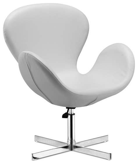 white leather swivel chair cobble swan swivel chair white leather modern