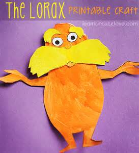 Lorax Template by Dr Seuss Crafts Ideas For The Lorax