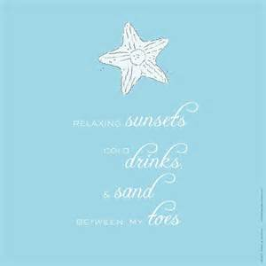 shabby chic beach quote star fish and sea shells on ocean blue print customize color custom