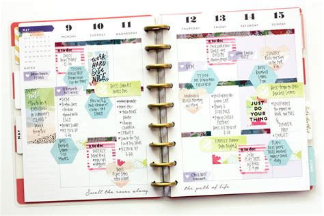 layout a week blog the happy planner week of watercolor sticky notes me