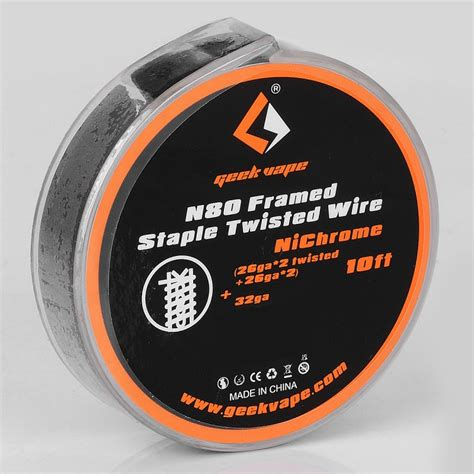 Geekvape Nichrome Ni80 26ga 30ft Authentic authentic geekvape n80 framed staple twisted 0 67 ohm 3m heating wire
