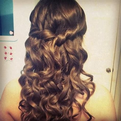 prom hairstyles tight curls 1000 images about 04編髮 waterfall braid on pinterest