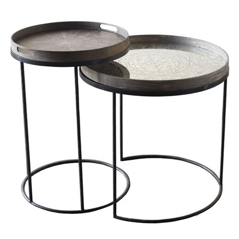 Table Trays by Notre Monde Tray Table Small 20704 Metal Frame