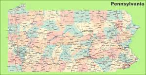Map Of Pennsylvania Cities And Towns map of pennsylvania states and cities maps