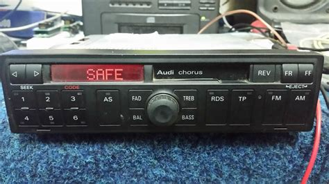 Radio Chorus Audi by Audi Chorus Radio Blaupunkt Auz1z2 Unlock Code Youtube