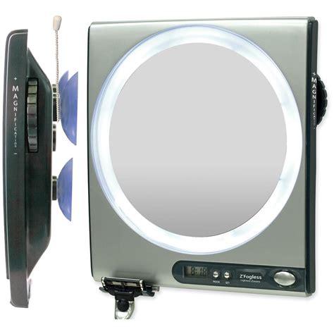 fogless bathroom mirror zadro 174 1 5x fogless shower mirror with surround light