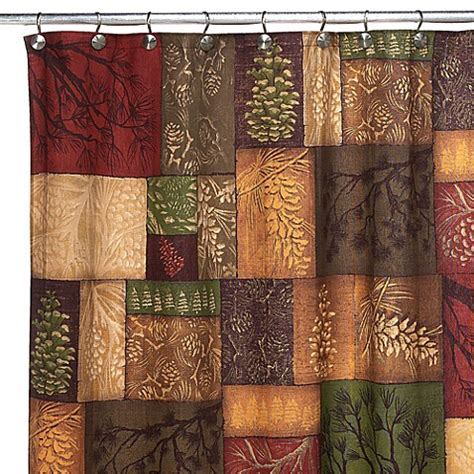 pine curtain buy avanti adirondack pine 70 inch x 72 inch fabric shower