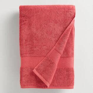 bathroom xxx coral cotton bath towel collection world market