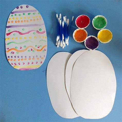 Easter Egg Decorations Uk by Q Tip Easter Egg Decorating Clare S Tots