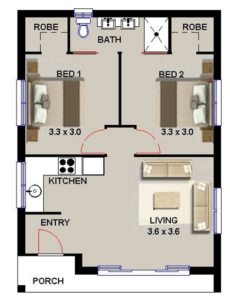 plan  elton  bedroom granny flat design bedroom