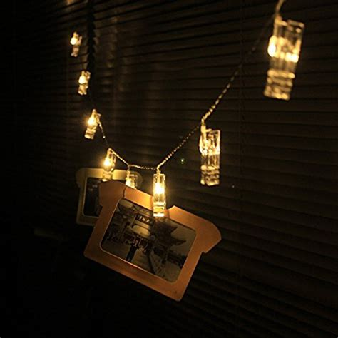 30 led photo clips string lights indoor outdoor