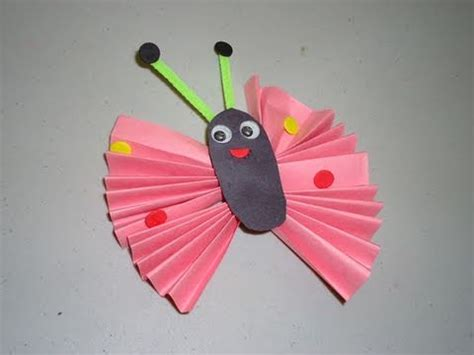 Butterfly Construction Paper Craft - how to make a construction paper butterfly ep