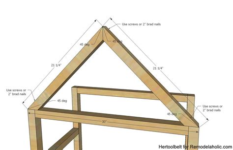 how to roof a house remodelaholic diy house frame bookshelf plans