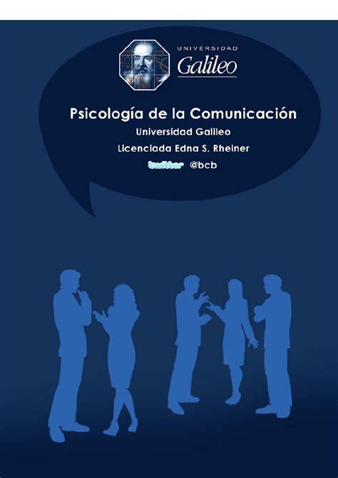 2014 Punto De Comunicaci 211 N - psicolog a de la comunicaci n psicolog 237 a de la