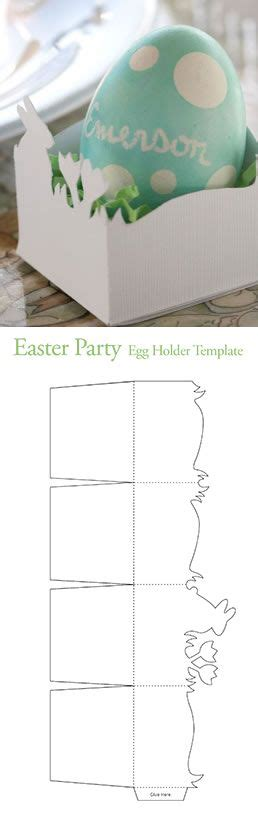 free easter egg holder template from pottery barn kids