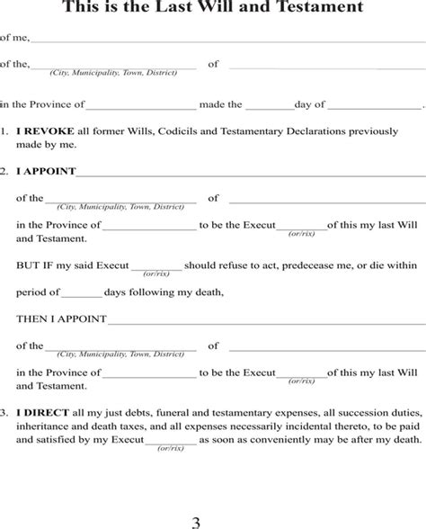 Download Washington Last Will And Testament Form For Free Page 3 Formtemplate Wa State Will Template