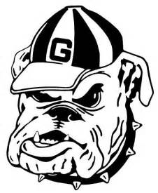 georgia bulldog free colouring pages