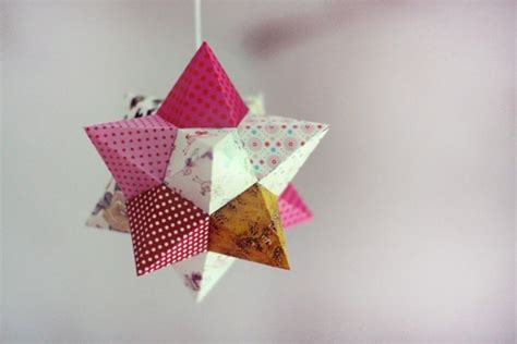 3d origami christmas star tutorial my may sunshine 3d origami stars tutorials pinterest