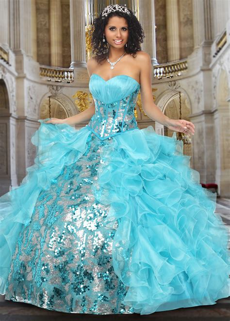 light blue and white dress blue quinceanera dresses dressed up