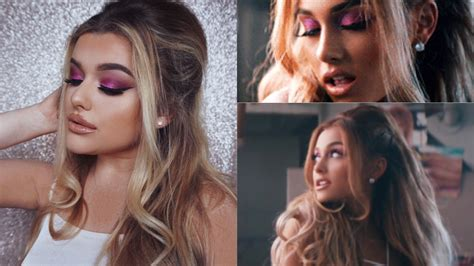 how to put hair in on the dide with 27 pieceyoutube ariana grande side to side music video hair make up