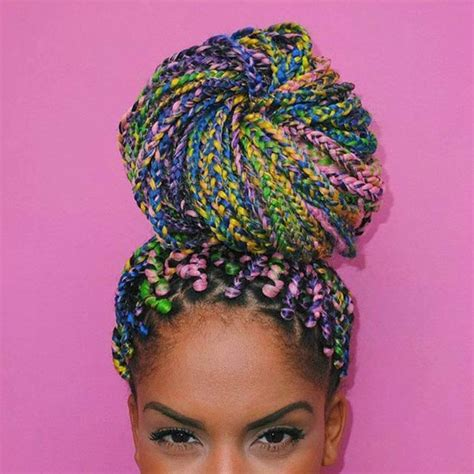 colorful braiding hair top trendy box braids hairstyles 2015 hairstyles 2017