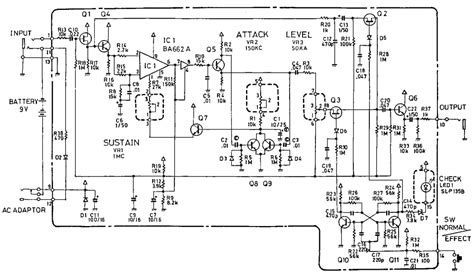cs 2 compression sustainer guitar pedal schematic diagram