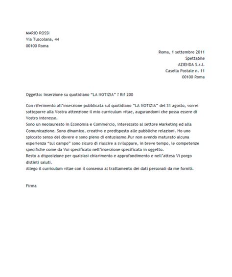 esempi lettere di presentazione documenti utili per la ricerca di un lavoro joblers