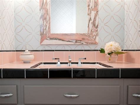 Modern Pink Tile Bathroom 25 Best Ideas About 1950s Bathroom On Kitchen