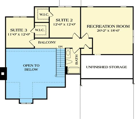 rec room floor plans craftsman home with second floor rec room 17777lv