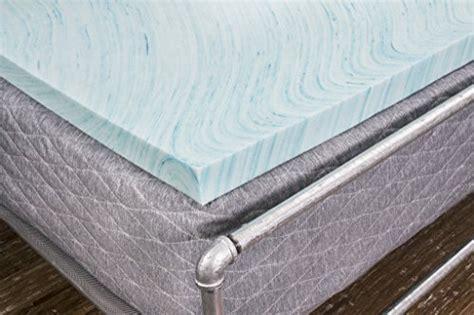 dreamfoam bedding dreamfoam bedding df20gt2050 2 quot gel swirl memory foam topper queen blue kitchen in