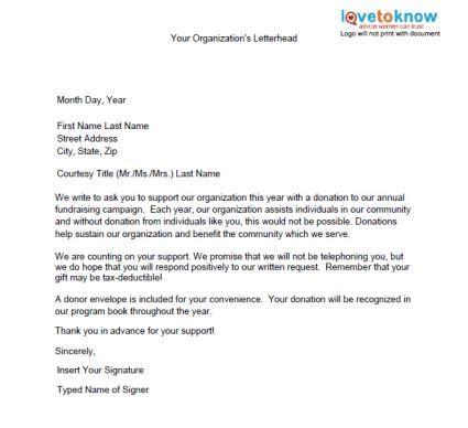 Sle Fundraising Letter United Way sle donation letter jvwithmenow