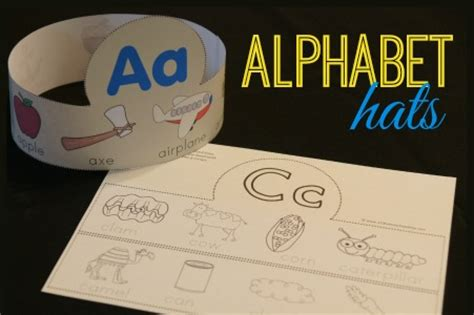 printable alphabet headbands free alphabet hats