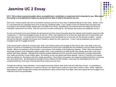 Uc Prompt 2 Essay Exles by 2013 Tell Your Personal Story Advice For Of Ca Applicatio