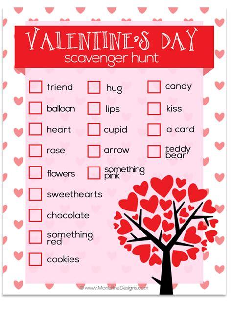 valentines treasure hunt s day scavenger hunt free printable