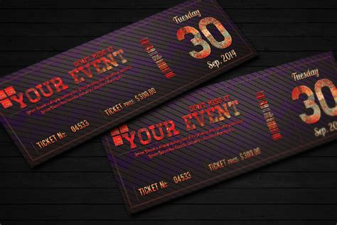 Ticket Template 23 Download Documents In Pdf Psd Event Ticket Template Psd Free