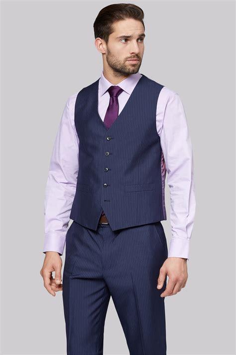 Jaket Stripe moss esq regular fit navy stripe jacket
