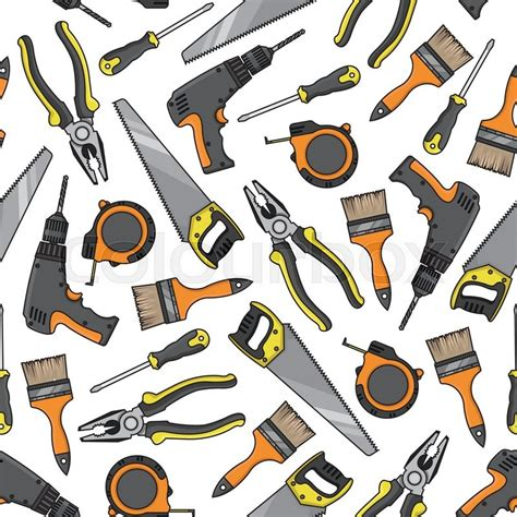 background pattern tool repair tools and electrical equipment background with