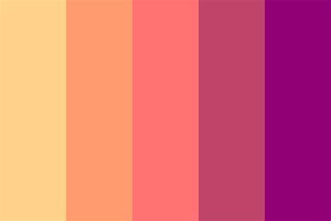 sunset color palette sunset song color palette