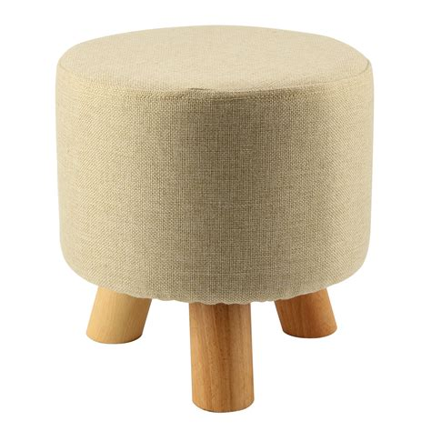 small stool causes modern luxury upholstered footstool pouffe stool wooden