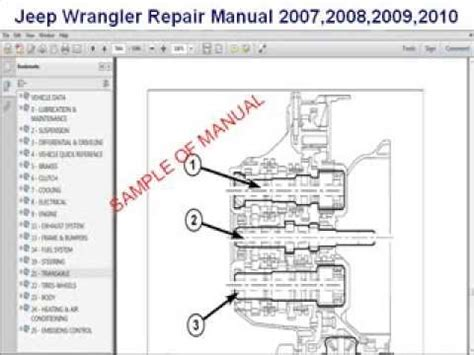 2008 Jeep Wrangler Owners Manual Jeep Wrangler Repair Manual 2007 2008 2009 2010